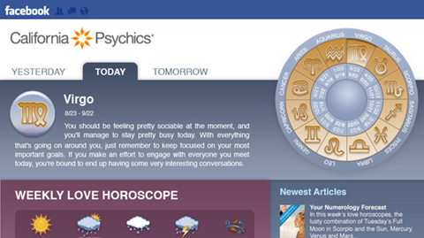 California Psychic's Facebook Page